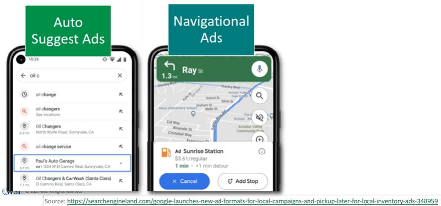 Changes to Google Maps Are Coming - Navigation ads