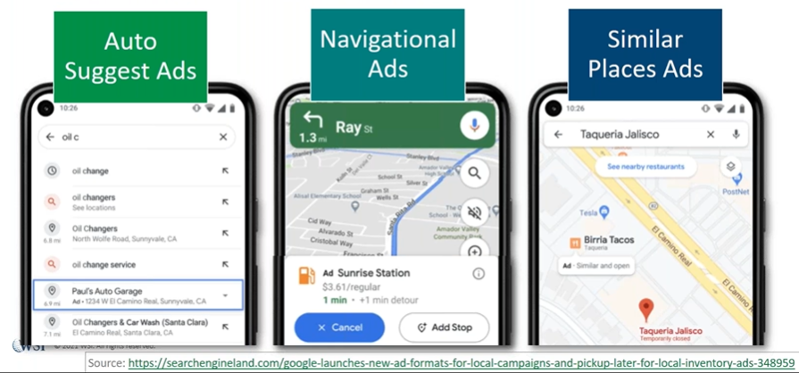 Changes to Google Maps Are Coming - Similar places ads