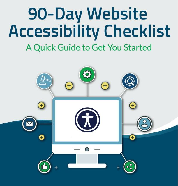 90 Day Website Accessibility Checklist banner